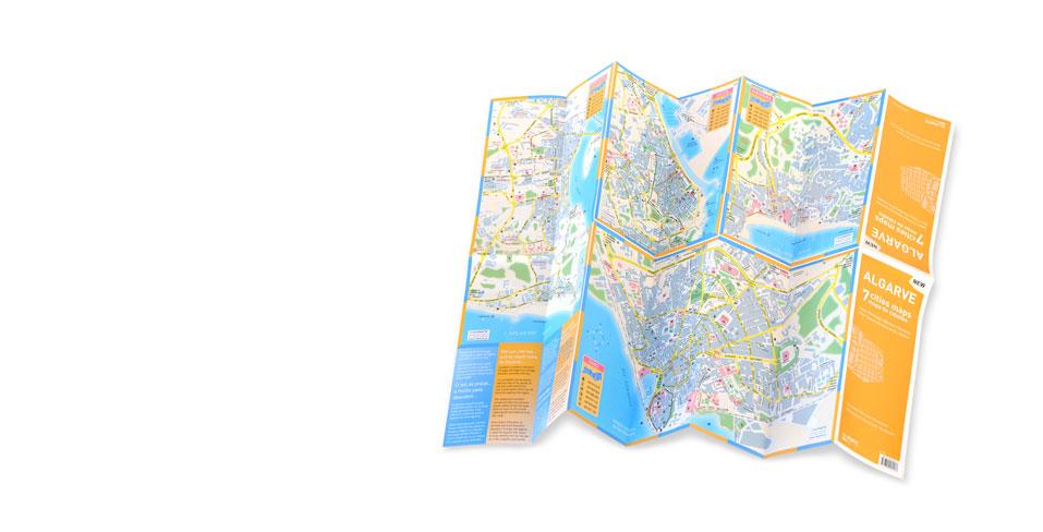 Mapa do Algarve <br> + 7 mapas de <br> cidades